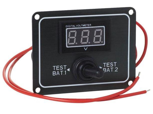Panel monitorowania stanu akumulatora na łodzi / 2 x 12 V(DC) / NOWY !
