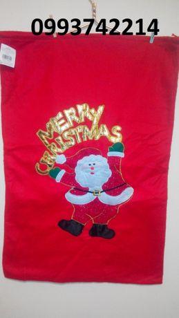 Мешок дед мороза новогодний мешок для подарков шапки новогодние