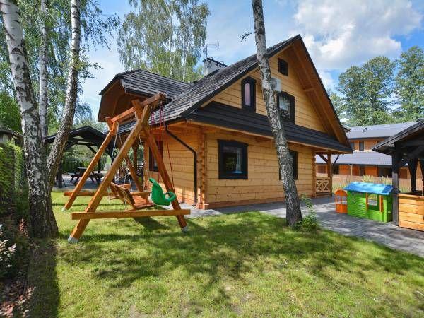 Domek z kominkiem Chata Świerkowa w Okunince