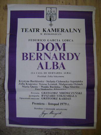 Starocie z PRL - Afisz teatralny z czasów PRL = 8 sztuk z 1980 r.