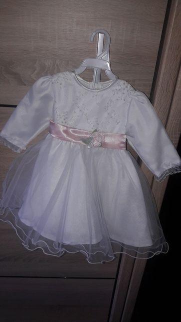 Sukienkana chrzest  tiulowa