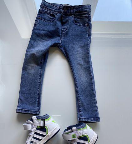 Zara spodnie jeansy rurki chlopiec idealny stan