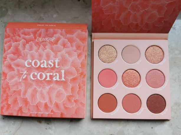 Coast to coral Colourpop paleta cieni cienie