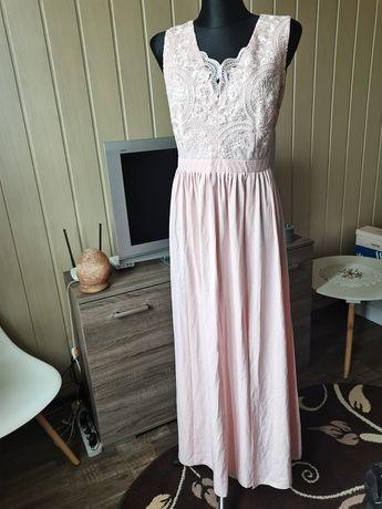 Sukienka długa z rozcięciem