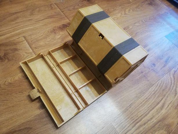 Skrzynka drewniana,organizer warsztatowy,wędkarski lub na inne drobiaz