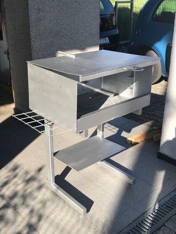 Gril węglowy - 3 półki do smażenia