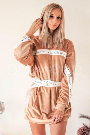 Sukienka - tunika welurowa S, M, L, XL UNIWERSALNY mega jakośc