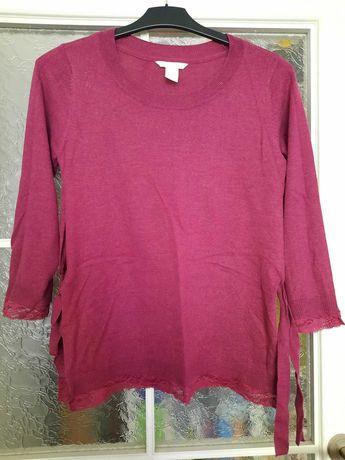 Sweter ciążowy do karmienia H&M Mama roz S różowy
