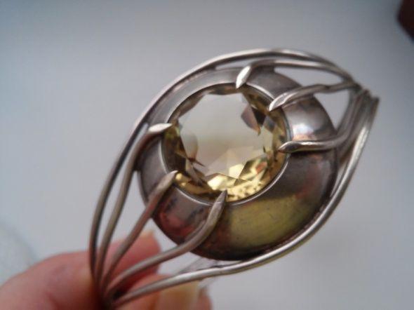 Bransoleta Rytosztuka z cytrynowym kamieniem