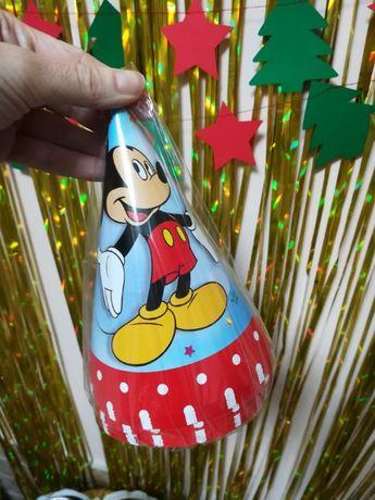 Колпачки стаканчики флажки гирлянда микки Маус день рождения