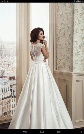 Шикарное свадебное платье# сзади пуговички#ОТДАЮ ЗА ПОЛ ЦЕНЫ