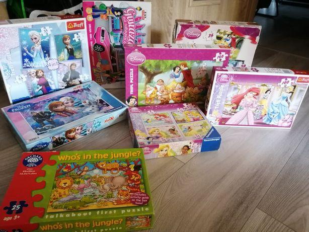Puzzle Disney i Frozen zestaw plus gra planszowa