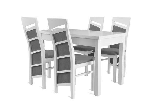 Piękny Biały Zestaw (stół + 4 krzesła) NOWOŚĆ! Tanio! Sprawdź