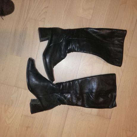 Kozaki damskie buty zima Ryłko 37 skóra naturalna