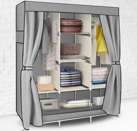Szafa regał  garderoba tekstylną duża pojemna 170x130 Nows