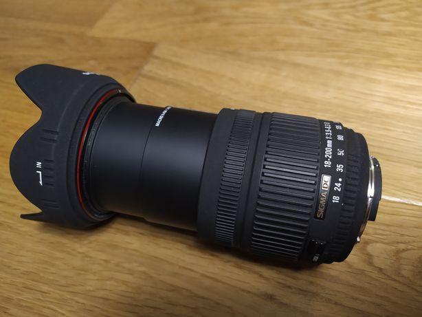 Obiektyw Sigma 18-200mm Aparat Nikon D90 Nikkor