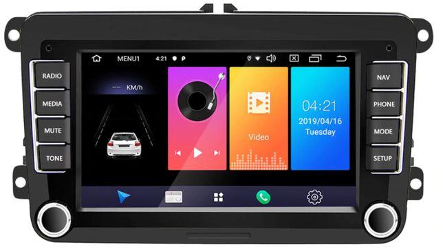Radio 2 DIN Android Golf 5 6 Passat B6 B7 CC Caddy Touran NAWIGACJA
