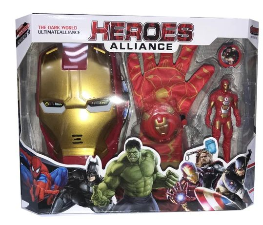 Maska + rękawica + figurka Iron Man dla dzieci
