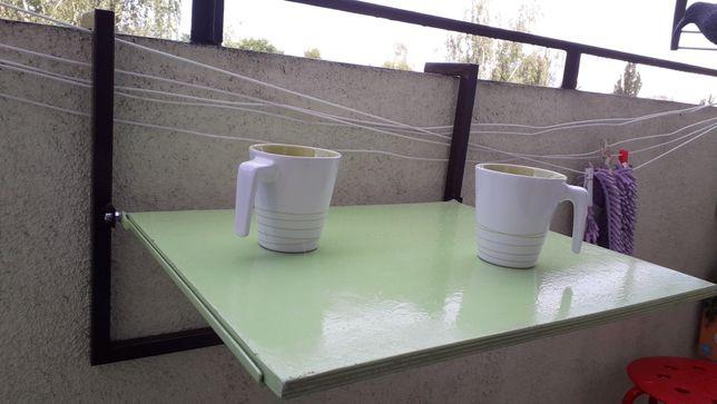 Stolik na balkon, taras, wiszący składany
