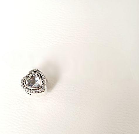 Charms serce kryształ srebro próba 925 do Pandora,Apart,Yes