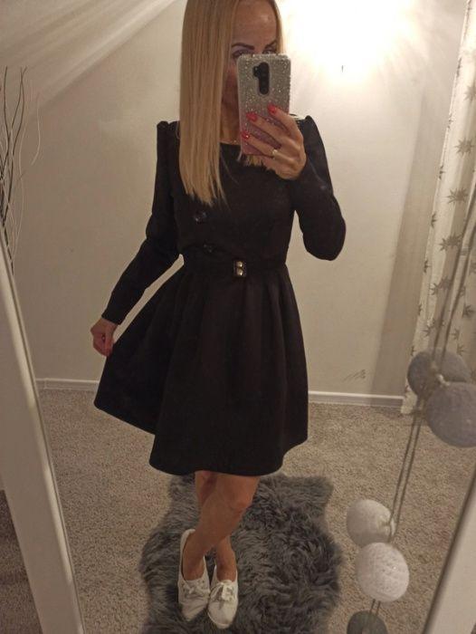 Czarna rozkloszowana sukienka S Grodzisk Mazowiecki - image 1