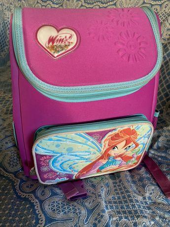 Портфель рюкзак в школу школьный для девочки 1-3 класс