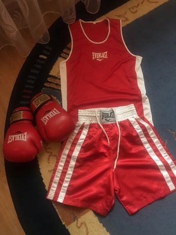 Продам боксерські рукавиці з формою EVERLAST