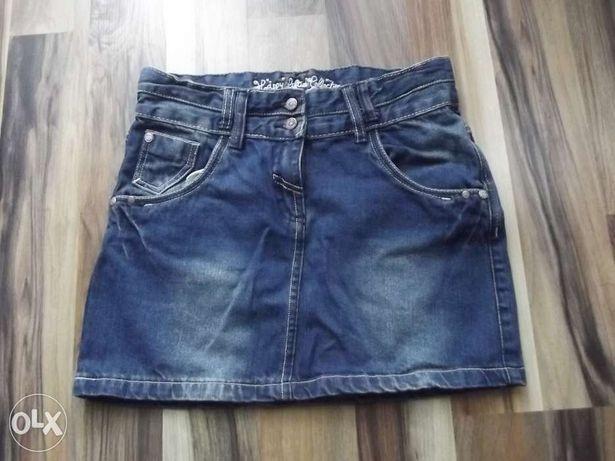 Jeansowa spódnica, spódniczka mini jak nowa. R. ok. 158.