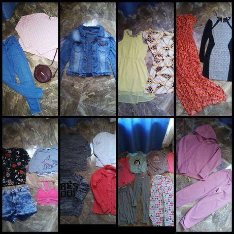 Пакет вещей 42 44 s m с м футболка шорты топ джинсы платье zara h&m