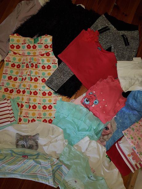Ubranka dla dziewczynki rozm 116 PAKA