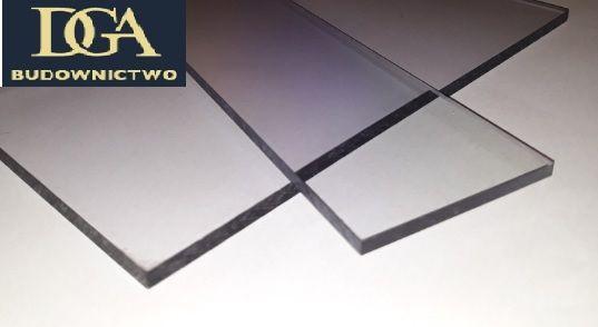 Płyty - poliwęglan lity 10 mm opal -2,05x6,11 m 2xUV -zadaszenia, dach