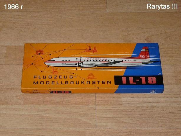 Ił-18 Biały kruk !!! 1:100 Antyk! 1966r