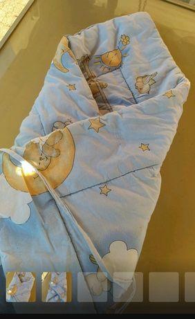 Rożek dziecięcy niebieski