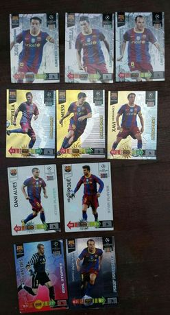 Karty piłkarskie panini Champions League FC Barcelona 2009-10,10-11