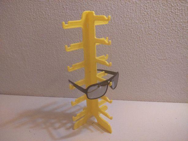 Expositor Suporte Plástico Amarelo 6 pares Óculos