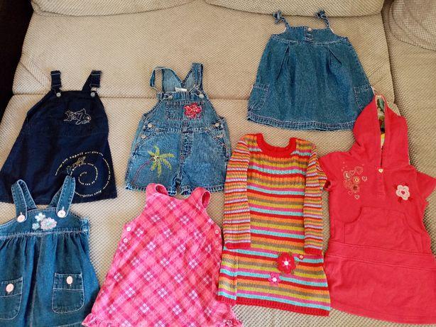 Ubranka dla dziewczynki 2-3 lata-62 sztuki
