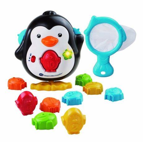 Музыкальный пингвин vtech + стойка в кровать в подарок