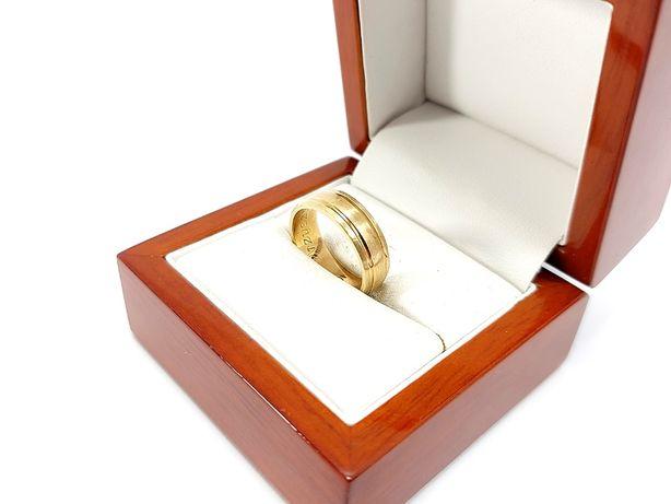 Złota obrączka 585 5,69 g Rozmiar 14