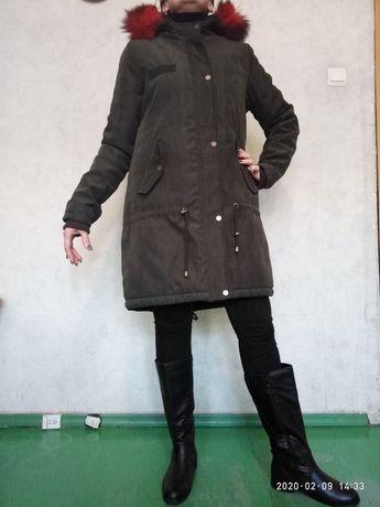 женский зимний пуховик (парка)