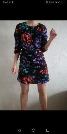 Greenpoint Sukienka Kwiaty 3D Piękne Insta Rozmiar S