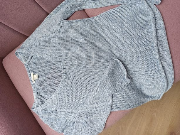 Błękitny sweterek oversize, H&M rozm.XS