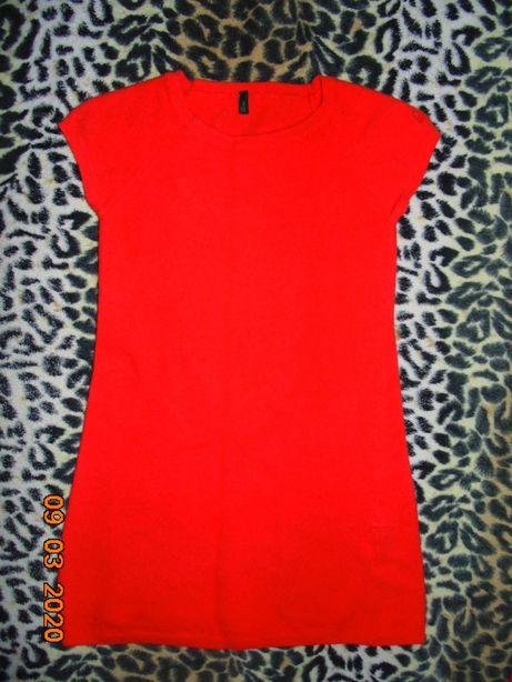 платье яркое Бениттон на 6-8лет+подарок