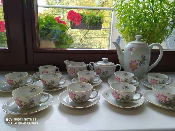 Serwis do kawy herbaty porcelana Karolina 10 os