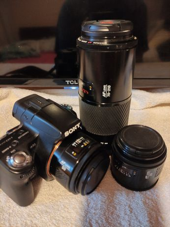 Sony SLT A55V + 3 объектива Minolta: 28 mm, 50 mm, 70-219