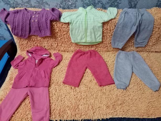Кофты и штаны на 12-18 месяцев. Цена за все.
