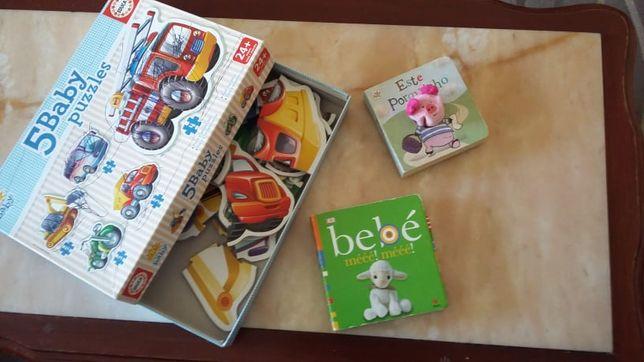 Livros e Puzzle Criança