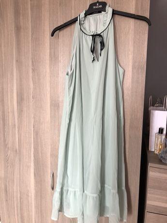Sukienka zwiewna miętowa mohito