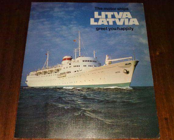 Буклет теплоходы Литва Латвия ЧМП СССР