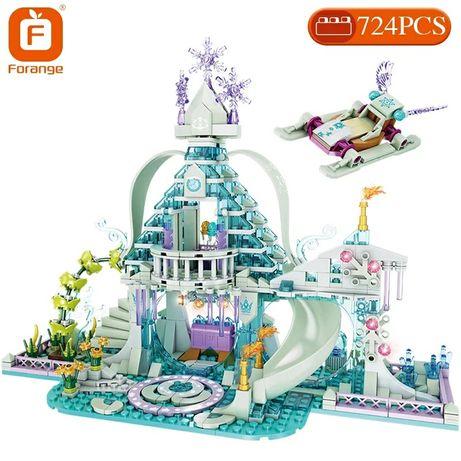 Klocki kryształowy pałac frozen