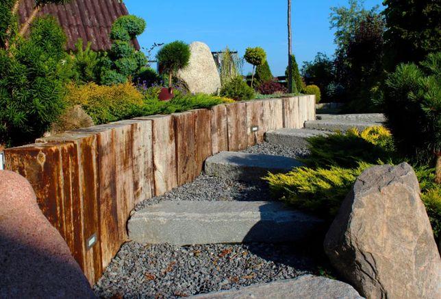 Palisada ogrodowa * Nowe nie kolejowe * Na wymiar * Podkład drewniany